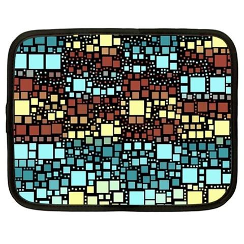 Block On Block, Aqua Netbook Case (XL)