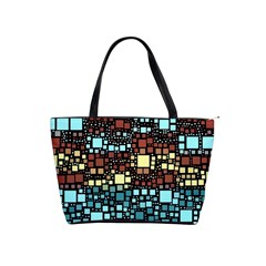 Block On Block, Aqua Shoulder Handbags