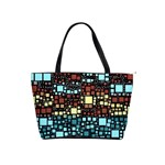 Block On Block, Aqua Shoulder Handbags Front