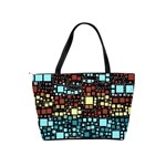 Block On Block, Aqua Shoulder Handbags Back