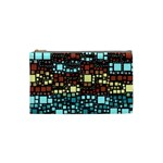 Block On Block, Aqua Cosmetic Bag (Small)  Front