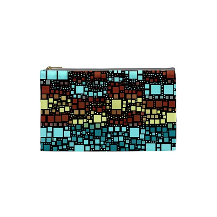 Block On Block, Aqua Cosmetic Bag (Small)