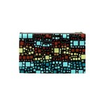 Block On Block, Aqua Cosmetic Bag (Small)  Back
