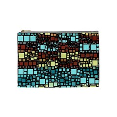 Block On Block, Aqua Cosmetic Bag (Medium)
