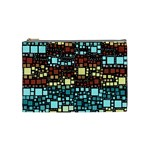 Block On Block, Aqua Cosmetic Bag (Medium)  Front