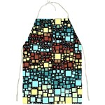 Block On Block, Aqua Full Print Aprons Front