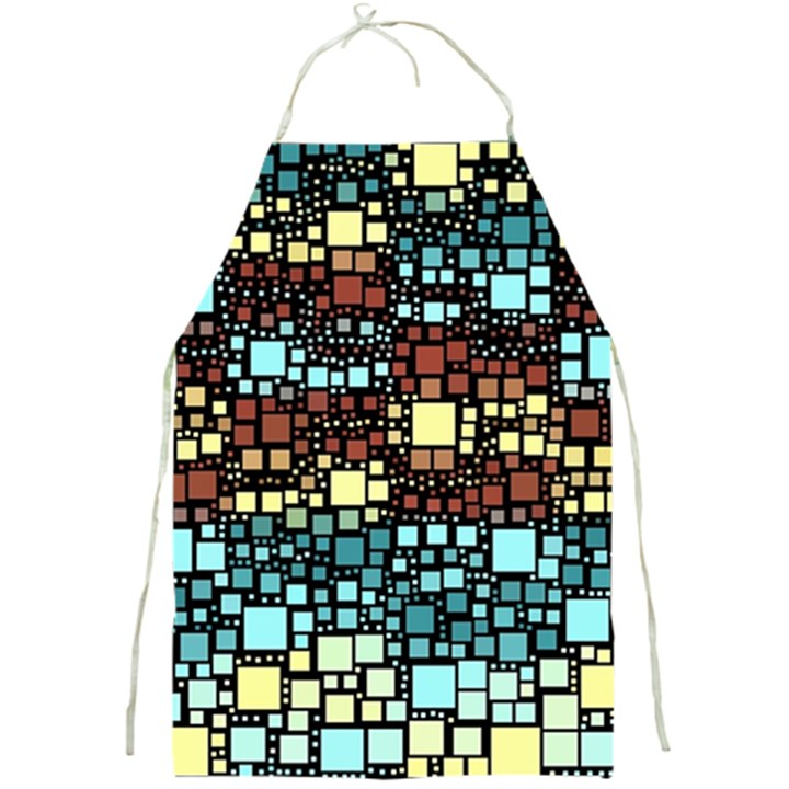 Block On Block, Aqua Full Print Aprons