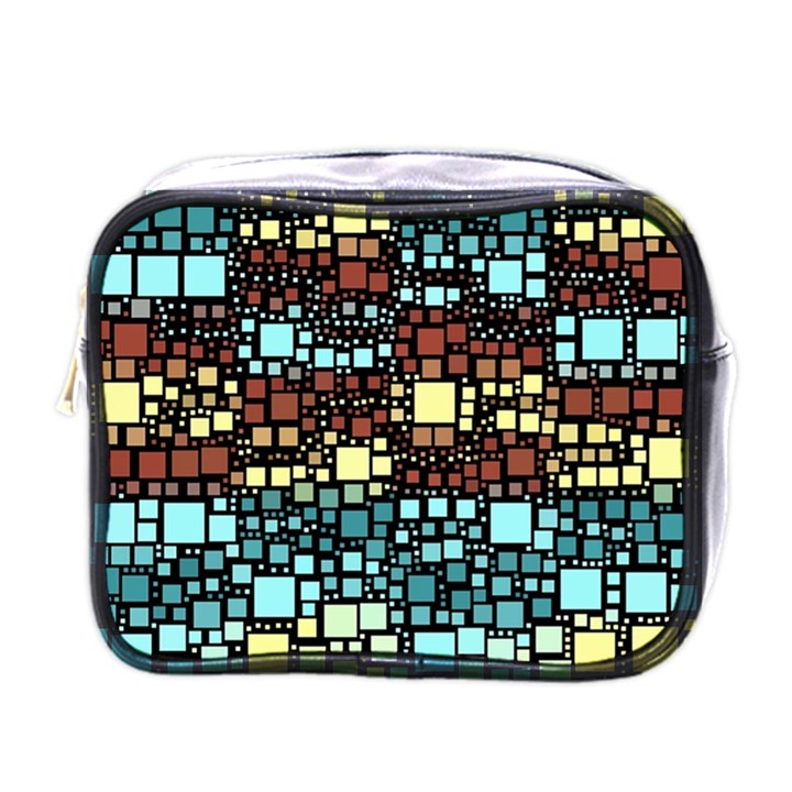 Block On Block, Aqua Mini Toiletries Bags