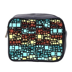 Block On Block, Aqua Mini Toiletries Bag 2-Side