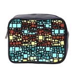 Block On Block, Aqua Mini Toiletries Bag 2-Side Front