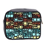 Block On Block, Aqua Mini Toiletries Bag 2-Side Back