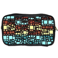 Block On Block, Aqua Toiletries Bags