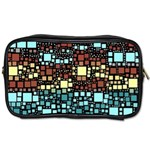 Block On Block, Aqua Toiletries Bags 2-Side Front
