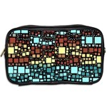 Block On Block, Aqua Toiletries Bags 2-Side Back