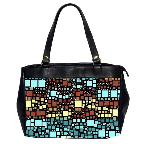 Block On Block, Aqua Office Handbags (2 Sides)