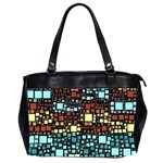 Block On Block, Aqua Office Handbags (2 Sides)  Front