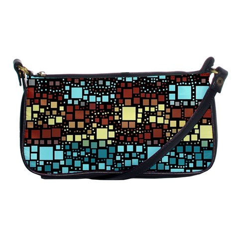 Block On Block, Aqua Shoulder Clutch Bags