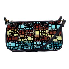 Block On Block, Aqua Shoulder Clutch Bags