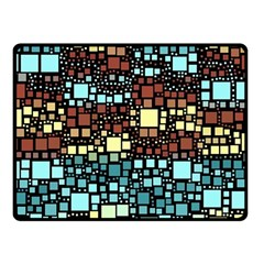 Block On Block, Aqua Fleece Blanket (small)