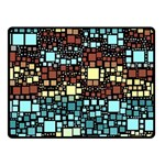 Block On Block, Aqua Fleece Blanket (Small) 50 x40 Blanket Front