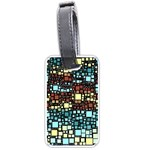 Block On Block, Aqua Luggage Tags (Two Sides) Front