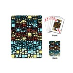Block On Block, Aqua Playing Cards (Mini)  Back