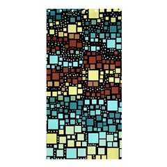 Block On Block, Aqua Shower Curtain 36  X 72  (stall)