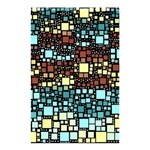Block On Block, Aqua Shower Curtain 48  x 72  (Small)  42.18 x64.8 Curtain