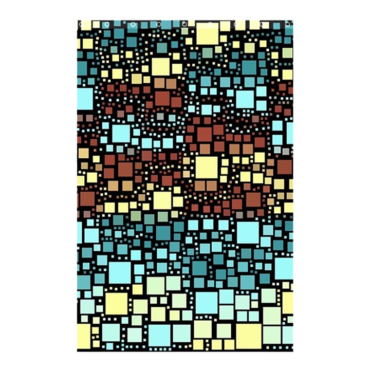 Block On Block, Aqua Shower Curtain 48  x 72  (Small)
