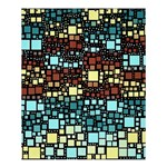 Block On Block, Aqua Shower Curtain 60  x 72  (Medium)  54.25 x65.71 Curtain