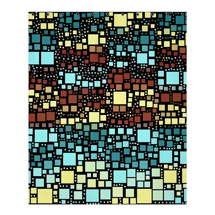 Block On Block, Aqua Shower Curtain 60  x 72  (Medium)