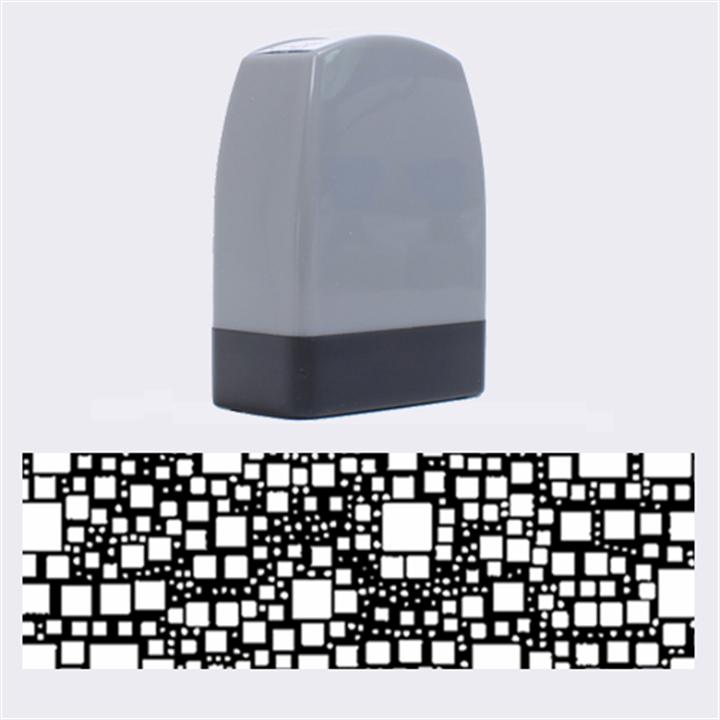 Block On Block, Aqua Name Stamps