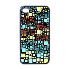 Block On Block, Aqua Apple Iphone 4 Case (black)