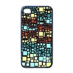 Block On Block, Aqua Apple iPhone 4 Case (Black) Front
