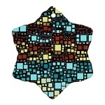 Block On Block, Aqua Ornament (Snowflake)  Front