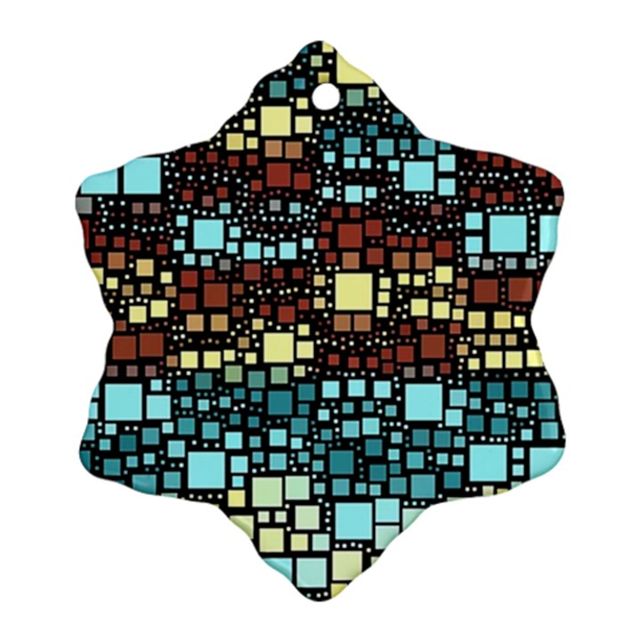 Block On Block, Aqua Ornament (Snowflake)