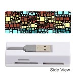 Block On Block, Aqua Memory Card Reader (Stick)  Front