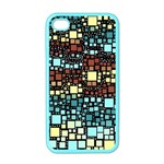 Block On Block, Aqua Apple iPhone 4 Case (Color) Front