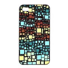 Block On Block, Aqua Apple iPhone 4/4s Seamless Case (Black)