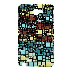 Block On Block, Aqua Samsung Galaxy Note 1 Hardshell Case