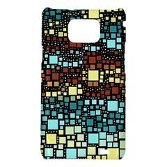 Block On Block, Aqua Samsung Galaxy S2 i9100 Hardshell Case