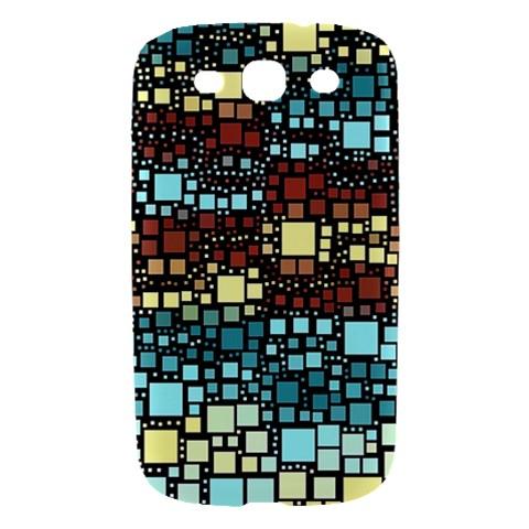 Block On Block, Aqua Samsung Galaxy S III Hardshell Case