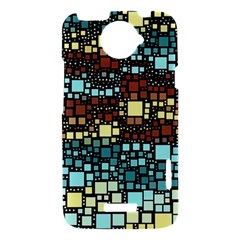 Block On Block, Aqua HTC One X Hardshell Case