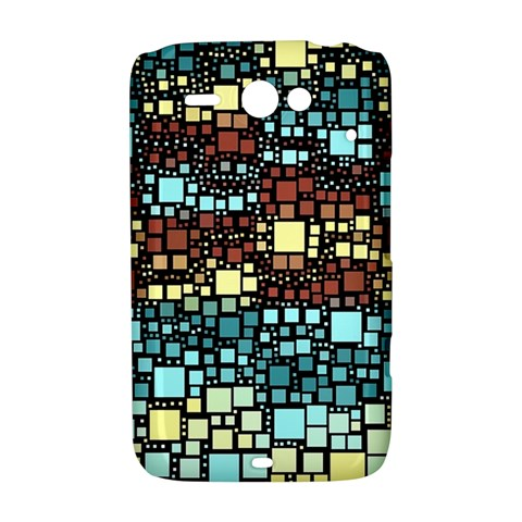 Block On Block, Aqua HTC ChaCha / HTC Status Hardshell Case