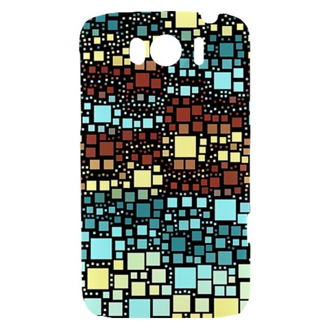 Block On Block, Aqua HTC Sensation XL Hardshell Case