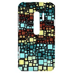Block On Block, Aqua HTC Evo 3D Hardshell Case