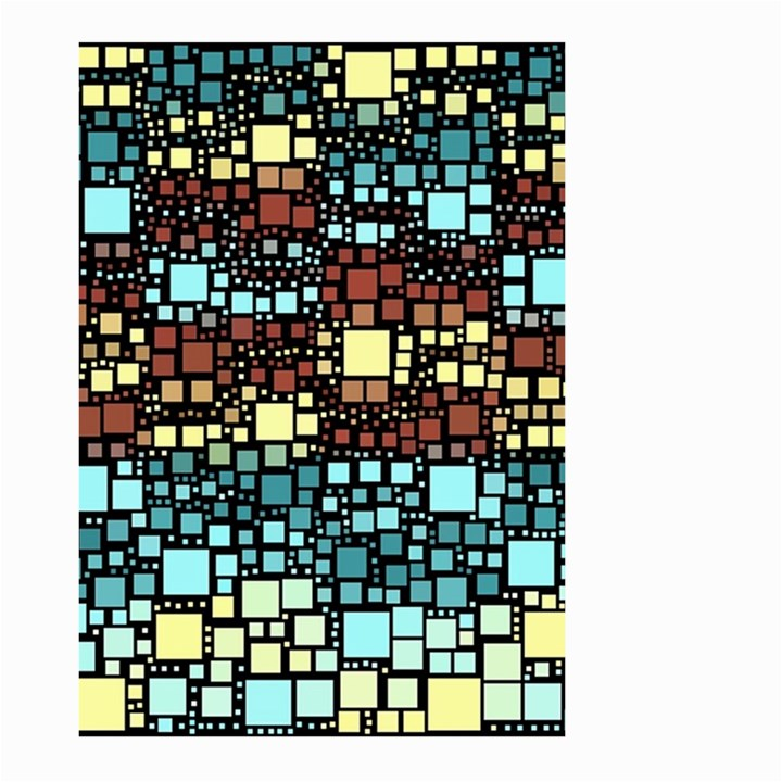 Block On Block, Aqua Large Garden Flag (Two Sides)