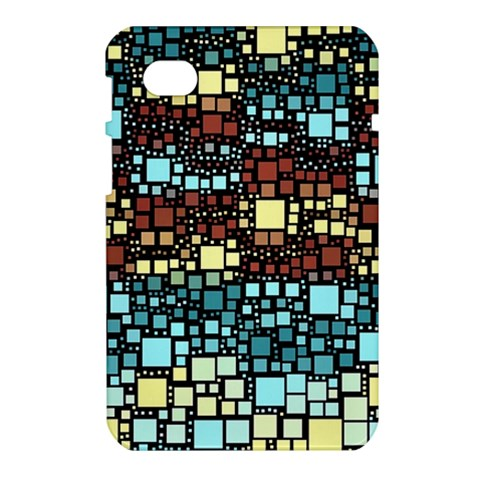 Block On Block, Aqua Samsung Galaxy Tab 7  P1000 Hardshell Case