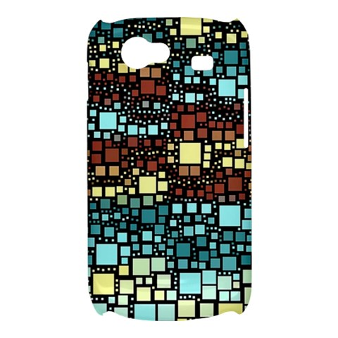 Block On Block, Aqua Samsung Galaxy Nexus S i9020 Hardshell Case