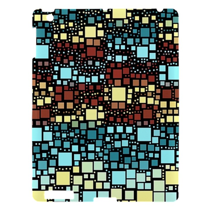 Block On Block, Aqua Apple iPad 3/4 Hardshell Case